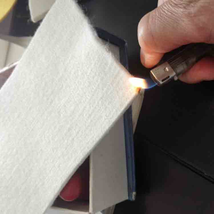 Long lasting flame retardant felt